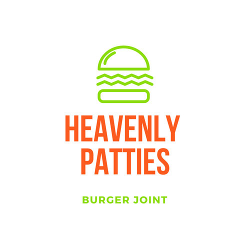 Colorful Burger Icon Restaurant Logo