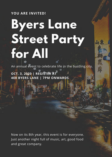 Black Street Party Flyer