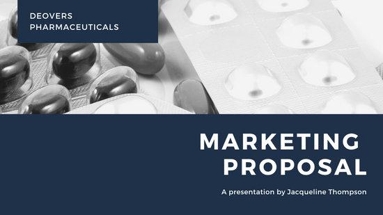 Blue Pharmaceutical Marketing Presentation