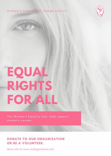 Pink Photo Women's Rights Poster