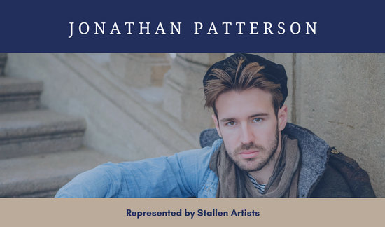 Blue and Brown Actor Business Card