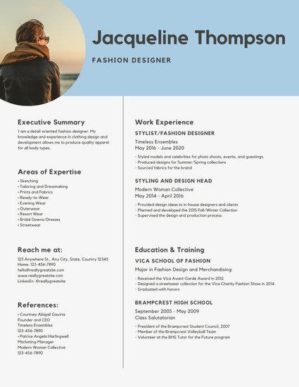 Blue Minimalist Modern Resume