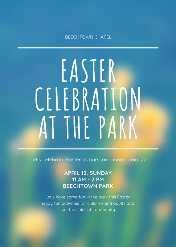Blue Simple Easter Event Flyer