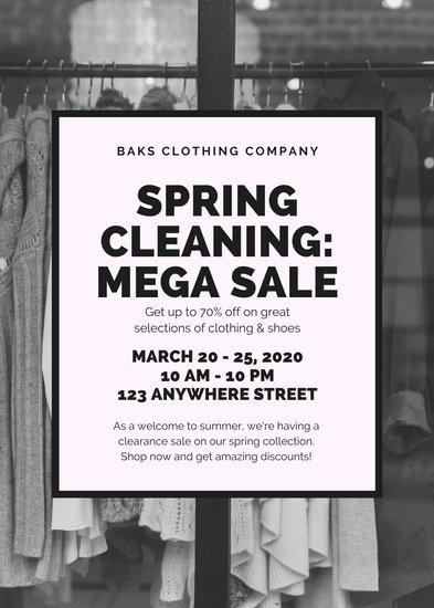 Black and White Image Yard Sale Yard Garage Flyer