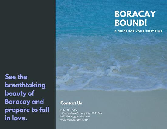 Blue Beach Photo Travel Trifold Brochure