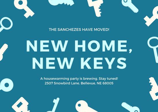 Cerulean Keys Change of Address Card