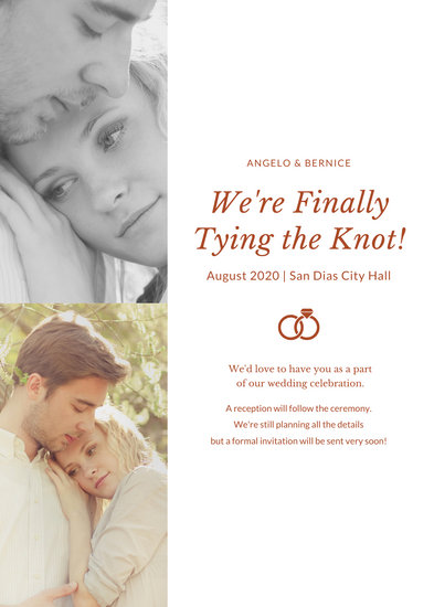 Photo Engagement Announcement