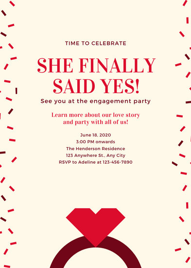 Pink Ring Engagement Announcement
