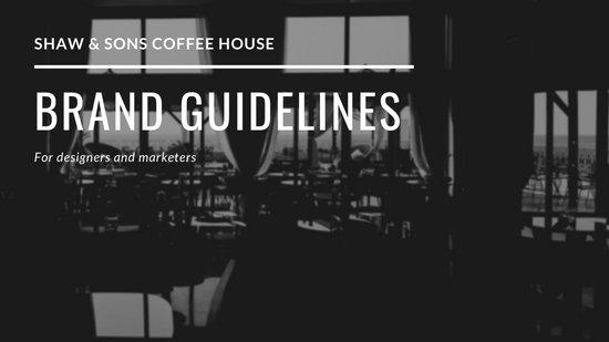 Brand Guidelines Marketing Presentation Wide