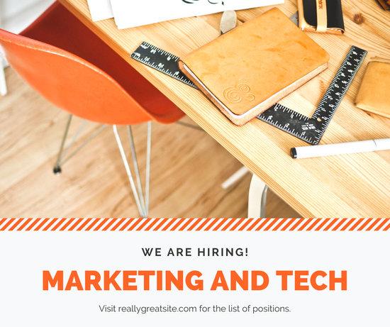 Orange Desk Job Post Vacancy Announcement Facebook Post