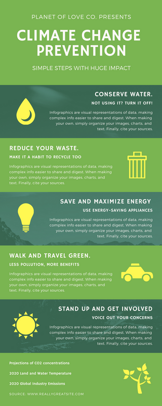 Green Climate Change Infographic