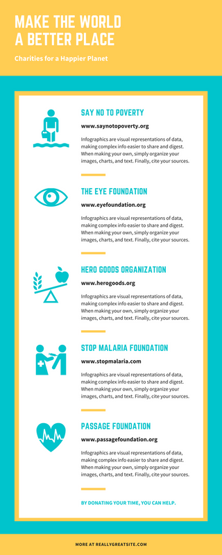 Teal Icon Charity List infographics