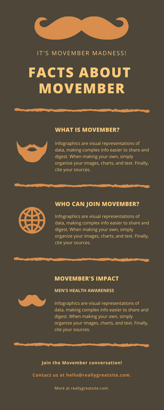 Orange and Brown November Charity Infographic