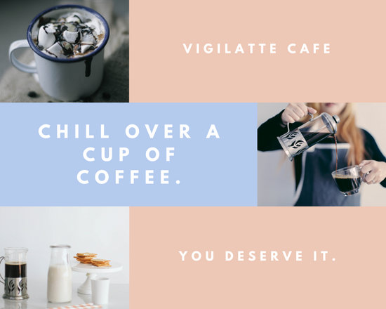 Pastel Retail Coffee Photo Collage