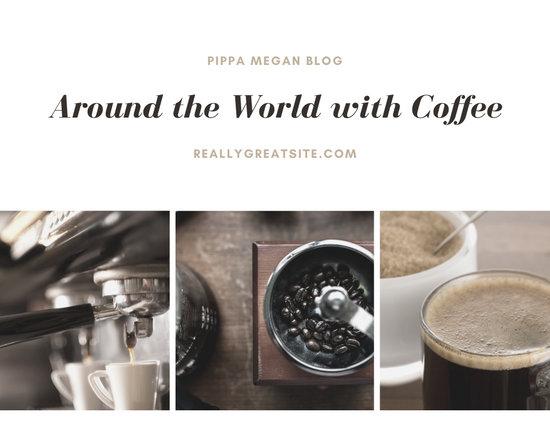 White Minimalist Coffee Quote Photo Collage
