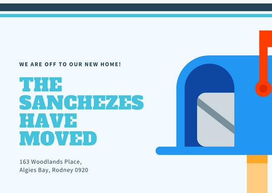 Modern Mailbox Change of Address Card