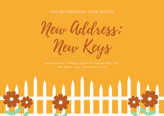 Fence Change of Address Card