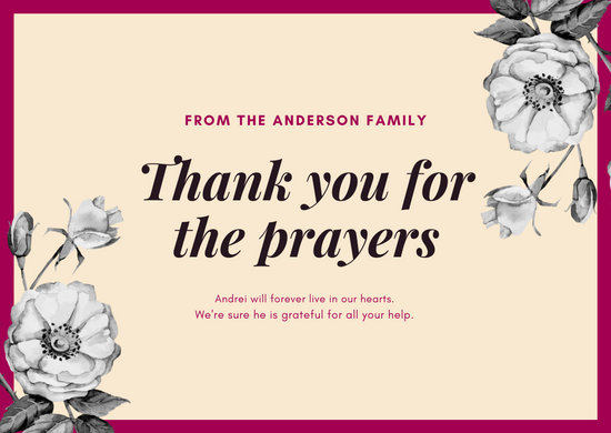 Floral Corners Funeral Thank You Card