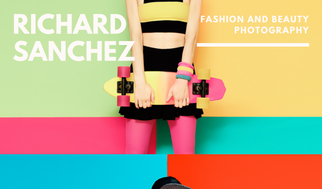 Color Block Photo Fashion Photography Business Card