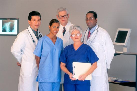 Staff portrait of doctors and nurses