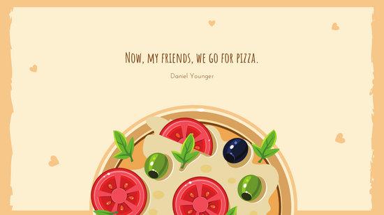 Light Brown Pizza Funny Cute Desktop Wallpaper