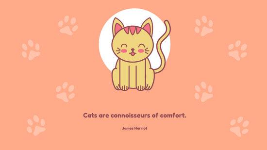 Orange Cat Cute Desktop Wallpaper