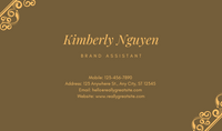 Yellow and Brown Modern Jewelry Business Card