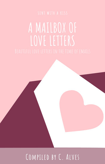 Cream Pastel Pink Letter Heart Creative Book Cover