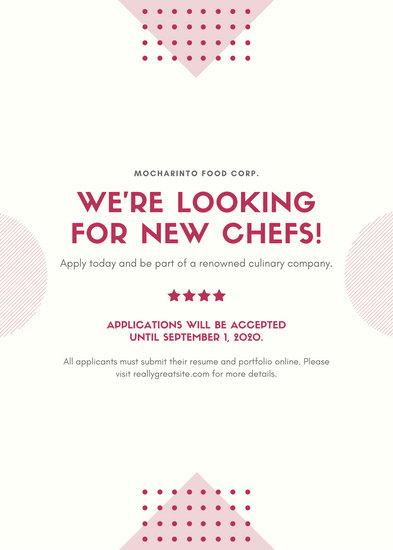 Maroon Job Post / Vacancy / Announcement Flyer