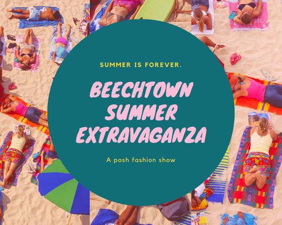 Green Pink Beach Fashion Show Summer Mood Photo Collage