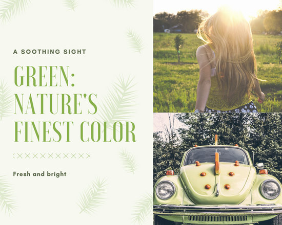 Green Compound Leaves Pattern Fashion Photo Collage