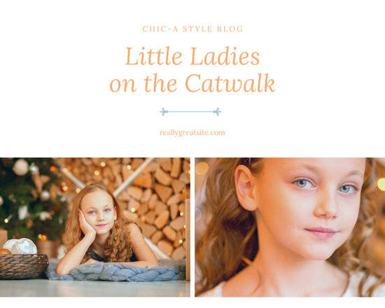 Gold Bordered Kid's Fashion Photo Collage