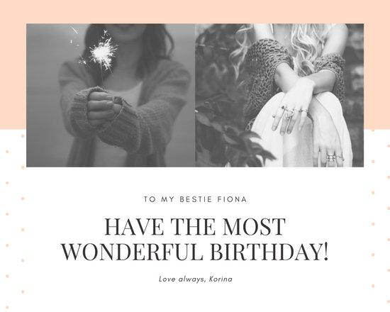 Pink Dots Birthday Photo Collage
