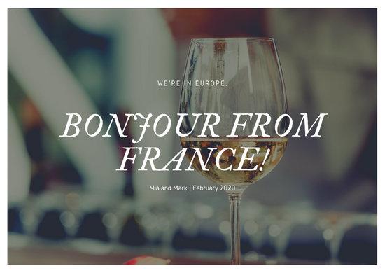 Minimalist Wine Photo French Postcard