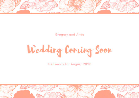 Floral Engagement Announcement Postcard