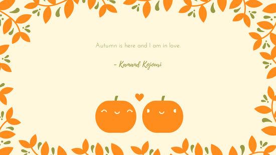 Cute Pumpkin Couple Fall Desktop Wallpaper