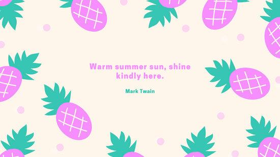 Pink Green Pineapple Tropical Cute Desktop Wallpaper