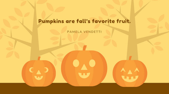 Cute Pumpkin Autumn Wallpaper