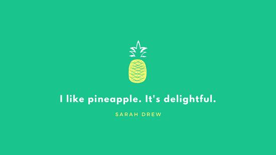 Green Pineapple Tropical Desktop Wallpaper