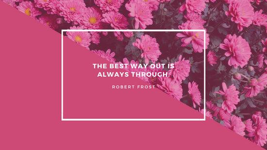 Pink Bordered Floral Desktop Wallpaper