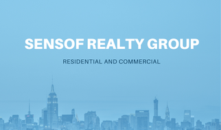 Blue Real Estate Business Card