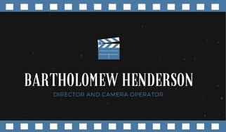 Blue & Black Creative Filmmaker Business Card