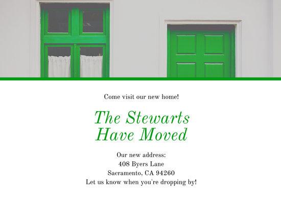 Green Bricks Change of Address Card