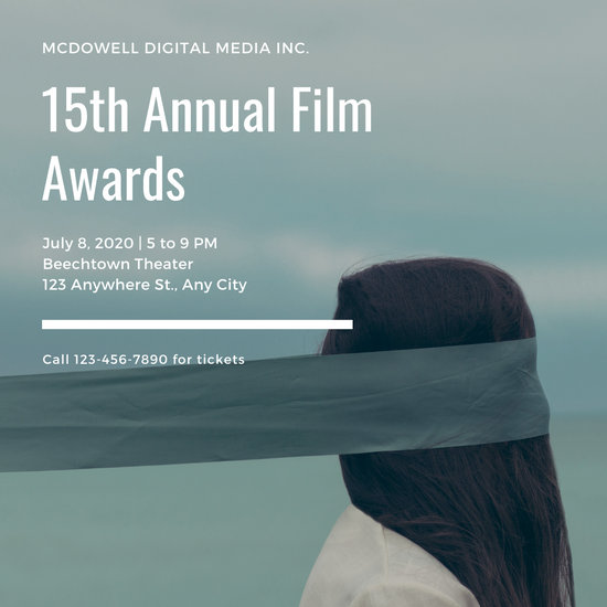 White Blindfold Woman Award's Night Invitation