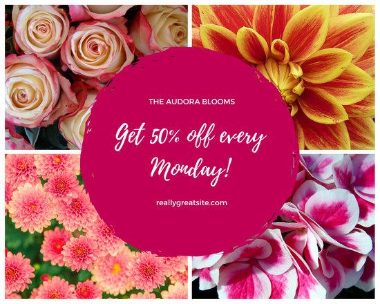Magenta Floral Photos Mood Summer Photo Collage