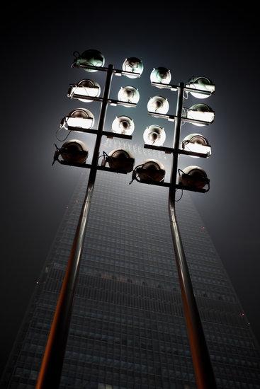 Beijing skyscraper - Building lighting