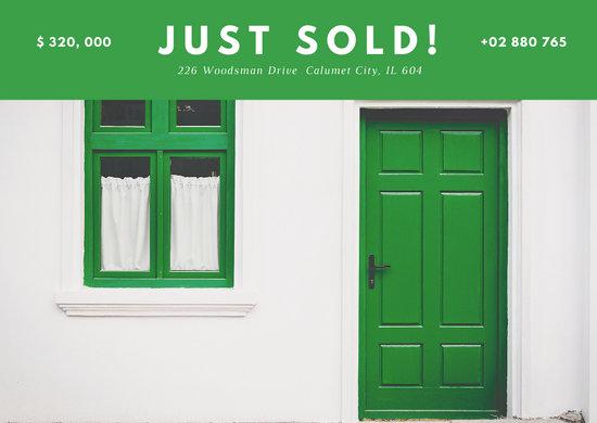 Green Just Sold Postcard