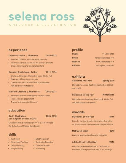Salmon Modern Creative Resume