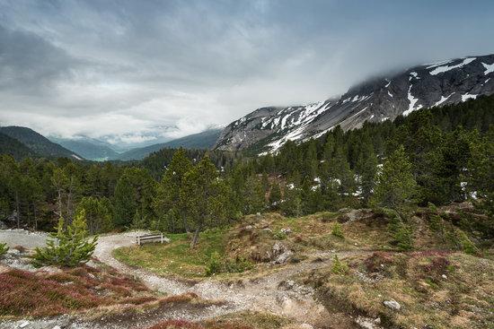Clouds over High Alp Peaks in Switzerland