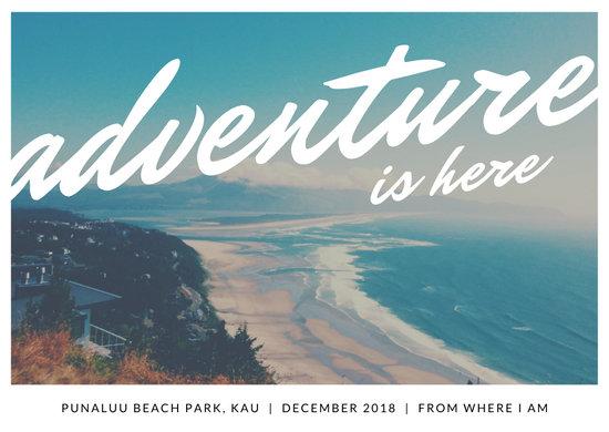 Beach Photo Adventure Direct Mail Postcard